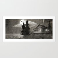 Owl Lake  Art Print