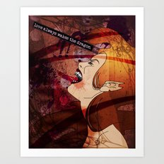 love always wakes the dragon Art Print