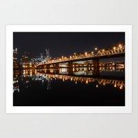 Hawthorne Bridge Art Print