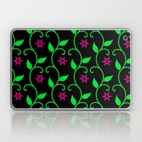 Pink Flowers And Green V… Laptop & iPad Skin