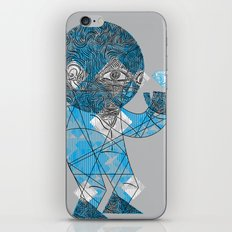mesmerized by the light blue diamond iPhone & iPod Skin