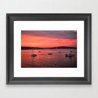 Mumbles Harbour After Su… Framed Art Print