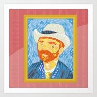 Selfie Van Gogh Art Print