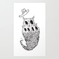 Crunchfingers ʕ•̫͡�… Art Print
