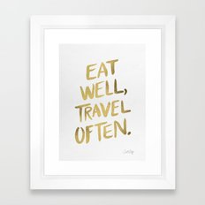 Eat Well Travel Often On… Framed Art Print