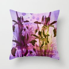 Iris and light Throw Pillow