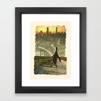 Penguin City Framed Art Print