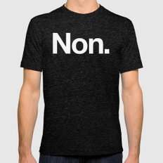 Non Mens Fitted Tee Tri-Black SMALL