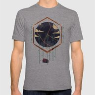 The Dark Woods Mens Fitted Tee Tri-Grey SMALL