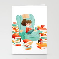 Read Books and Drink Tea Stationery Cards