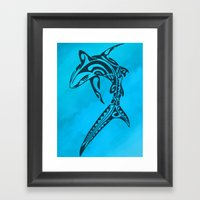 Sharked Framed Art Print