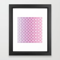Metamorph 001 | Magenta Framed Art Print