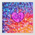 CHOOSE JOY Christian Art Abstract Painting Typography Happy Colorful Splash Heart Proverbs Scripture Canvas Print
