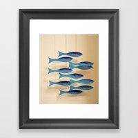 Fish on the Line Framed Art Print