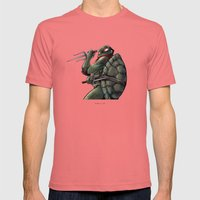 Raphael . TMNT Mens Fitted Tee Pomegranate SMALL