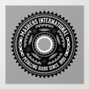 Mashers International (light grey) Canvas Print
