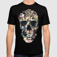 Vintage Skull Mens Fitted Tee SMALL Black