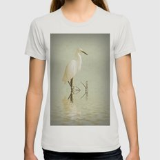 Little Egret Womens Fitted Tee Silver SMALL