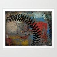 Painted Baseball Art Print