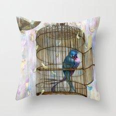 Birds in Love! Throw Pillow