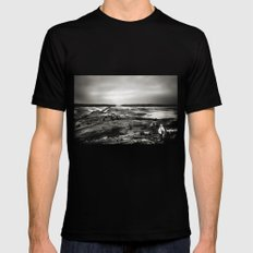 Cramond, Scotland Mens Fitted Tee Black SMALL