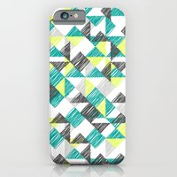 iPhone & iPod Case featuring scribble triangles by ravynka