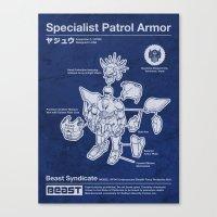 Specialist Patrol Armor (Navy Blue) Canvas Print