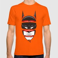 Defrag Man Mens Fitted Tee Orange SMALL