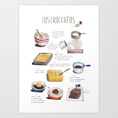 lamington instructions Art Print
