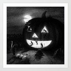 Drawlloween 2013: Pumpkin Art Print