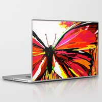 butterfly Laptop & iPad Skins featuring Butterfly  by Saundra Myles