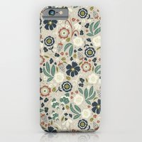 iPhone & iPod Case featuring Flourishing Florals (Light-Green) by Anna Deegan