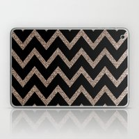 Black And Gold Glitter C… Laptop & iPad Skin