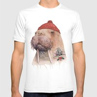 Tattooed walrus Mens Fitted Tee White SMALL