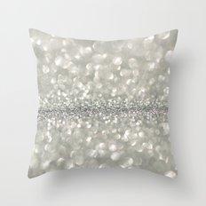 silver sparkle Throw Pillow