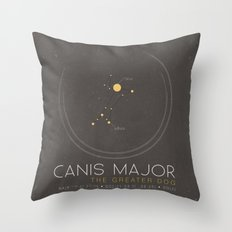 Canis Major - The Greate… Throw Pillow