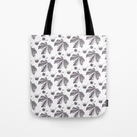 Floral pattern horse-chestnut Tote Bag