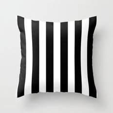 Bold Stripes (Black & White) Throw Pillow