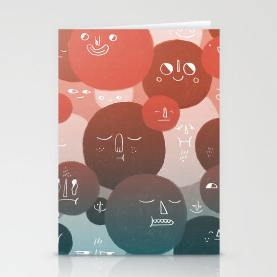 Blood Cells Stationery Card