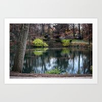 Cemetery Reflections Art Print
