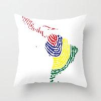 Latin America Throw Pillow
