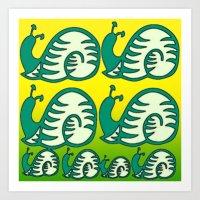 Schneckenmuster. Art Print