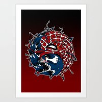 venom yin yang Art Print
