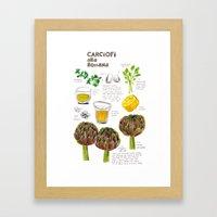 Illustrated Recipes: Car… Framed Art Print