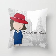 Agent Carter Throw Pillow