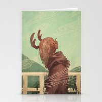 Last Year's Antlers Stationery Cards