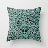 Delicate Teal Throw Pillow
