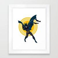 The Bat Dude Framed Art Print