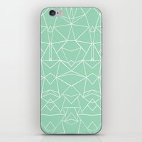 Abstract Mirror Mint iPhone & iPod Skin