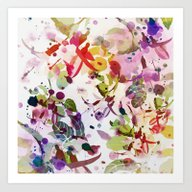 Multicolore Abstract Fuc… Art Print
